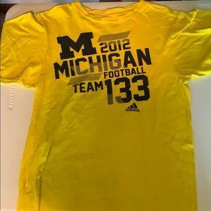 Michigan football adidas shirt